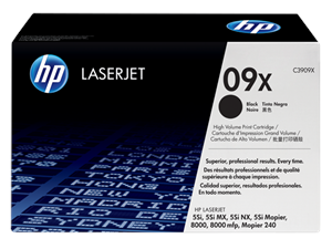 Genuine HP Brand 09X (C3909X) LaserJet Toner Cartridge