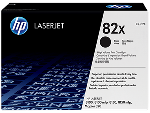 Genuine HP Brand 82X LaserJet Black Toner Cartridge - C4182X