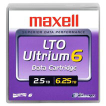 Maxell LTO Ultrium 6 Data Cartridge 2.5TB/6.25TB (229558)