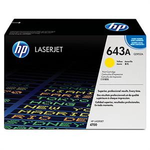 Genuine HP Brand HP 643A (Q5952A) Yellow LaserJet Toner Cartridge